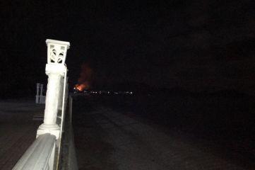 Крупный пожар: в Коктебеле сгорела столовая «Ложка». Подробности