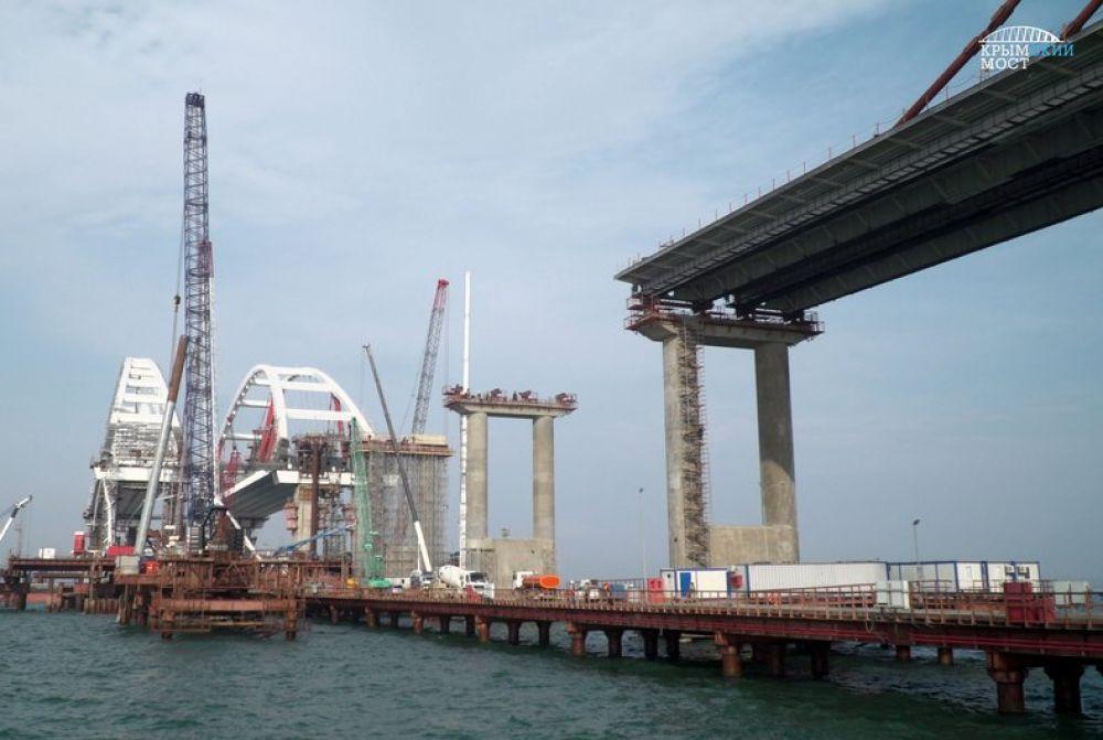 МЧС провело учения на строительстве Крымского моста (ФОТО)