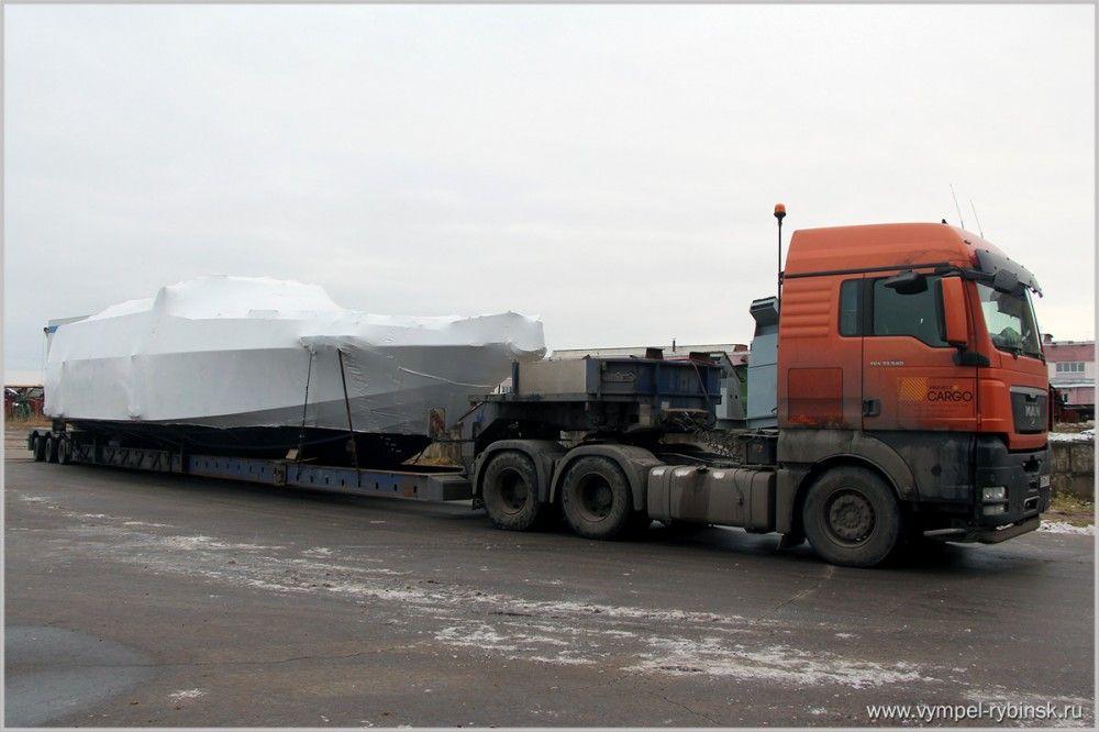 Патрульный катер «Мангуст» для пограничников едет в Керчь