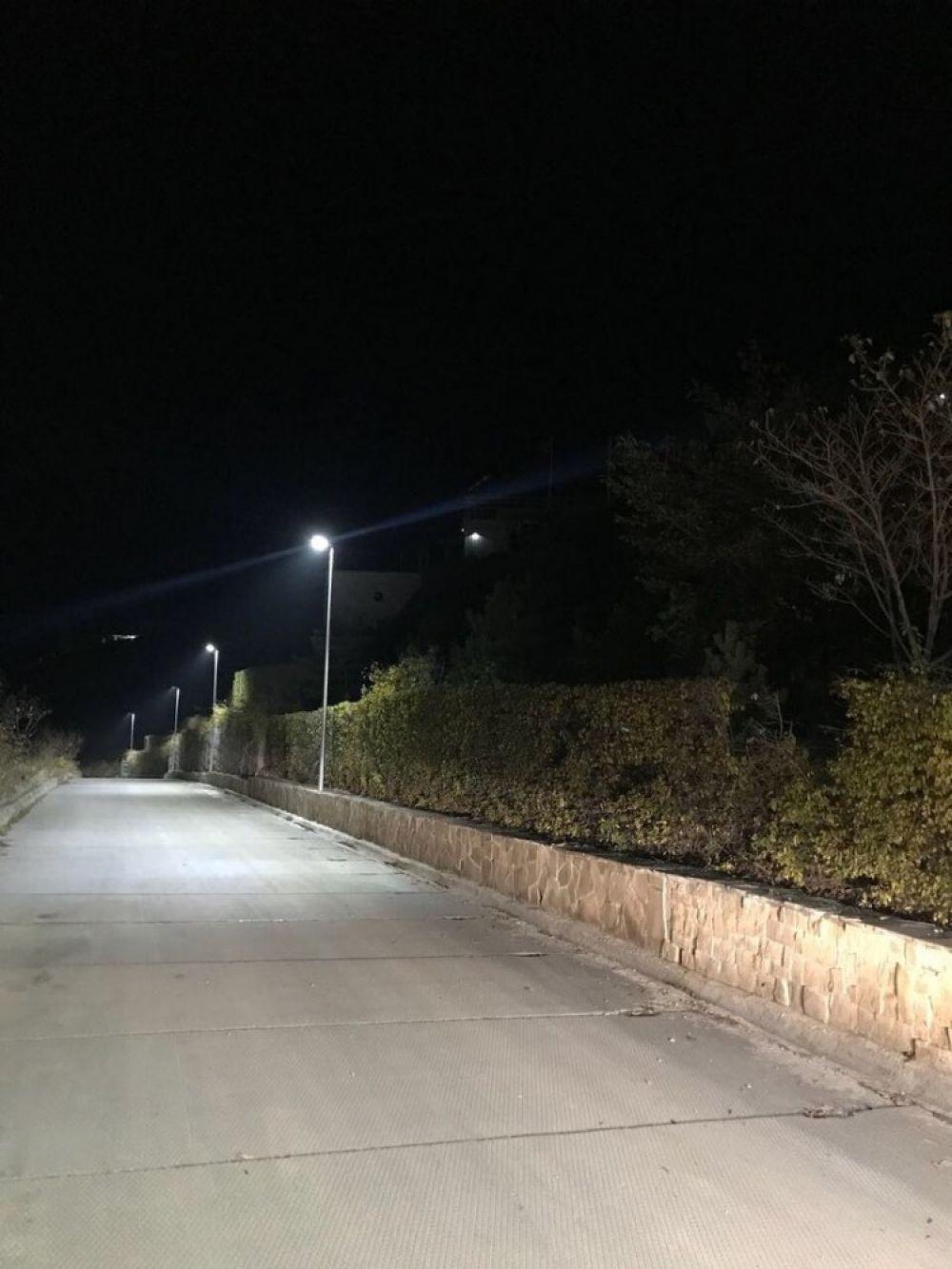В Коктебеле восстановили освещение на площади Волошина