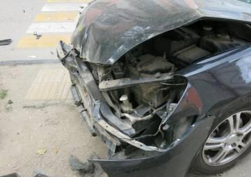 Сегодня, 18 октября, на перекрестке Победы и Куйбышева авария(фоторепортаж)