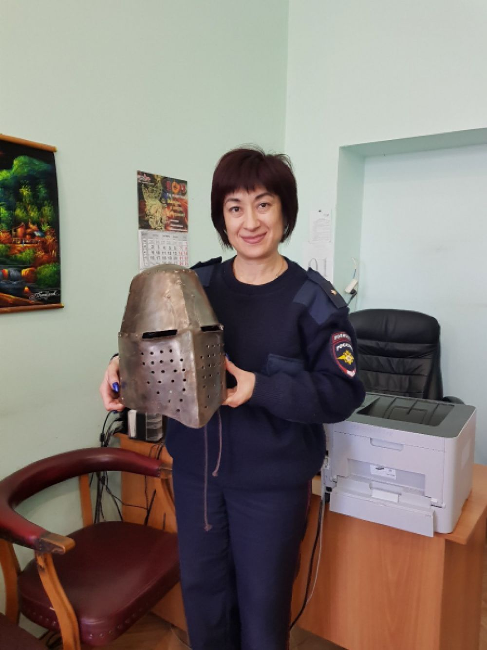 Студент похитил рыцарский шлем из феодосийского музея