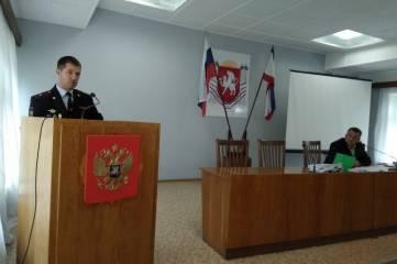 Руководитель ОМВД России по Ленинскому району отчитался о проделанной подразделением работе