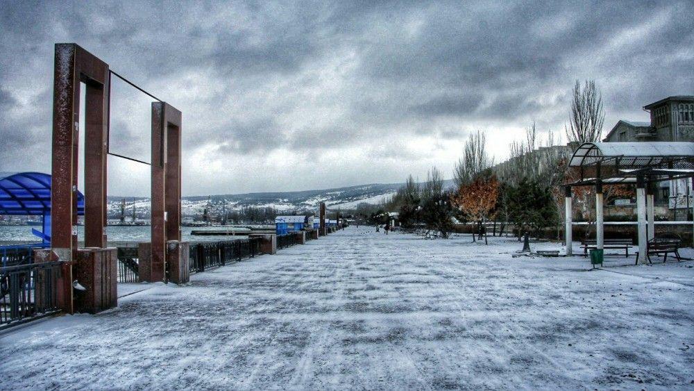 Первый снег в Феодосии