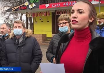 В Феодосии большой скандал из-за сгоревшего рынка