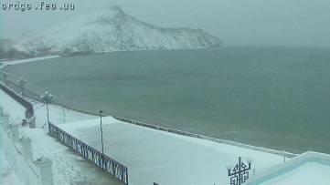 В Феодосии выпал снег (ФОТО)