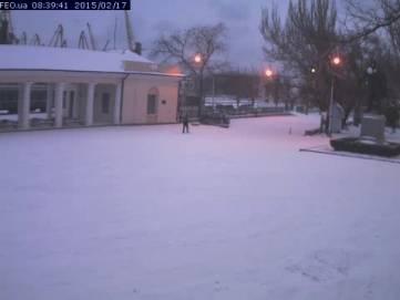 Утро со снегом в Фео (ФОТО)