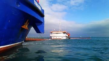 Информация о работе по ремонту сухогруза «Берг»