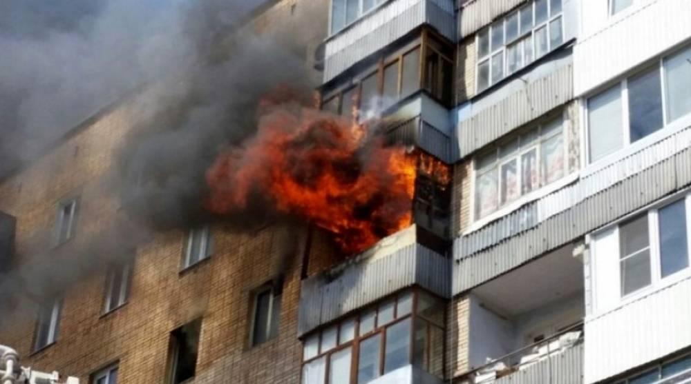 На пожаре в Керчи спасен мужчина