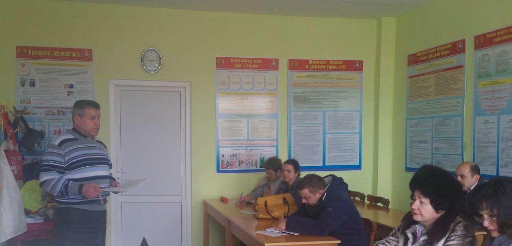 В Феодосии проводятся занятия по пожарно-техническому минимуму