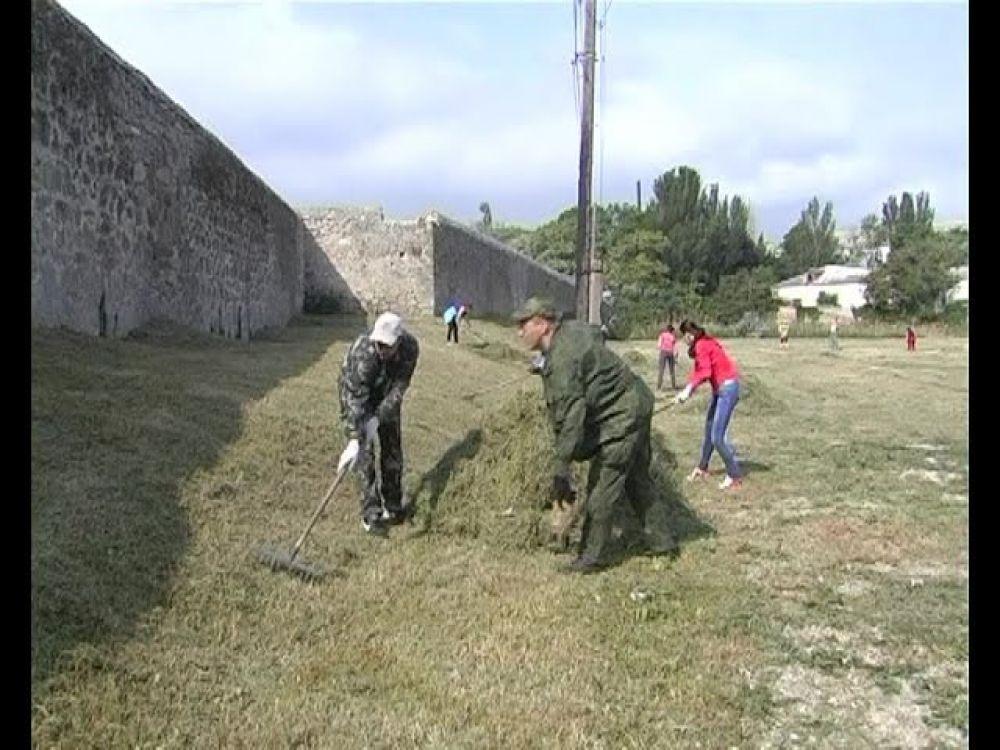 Перед «барабулькой» в исторической части города навели порядок