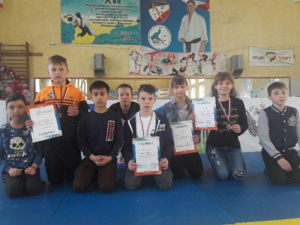 В Феодосии соревновались юные дзюдоисты