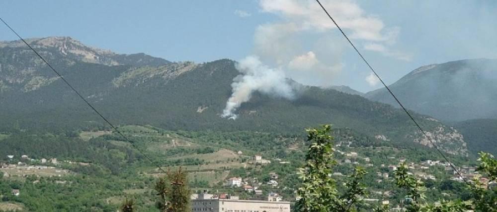 Крупный лесной пожар в районе Ялты мог возникнуть из-за туристов