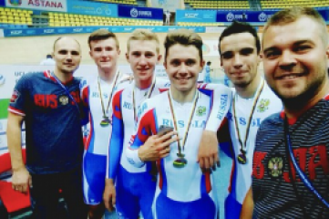 Феодосийский велосипедист в составе сборной России, не смотря на досадное падение, завоевал бронзовую медаль на Чемпионате мира в Астане (Казастан)
