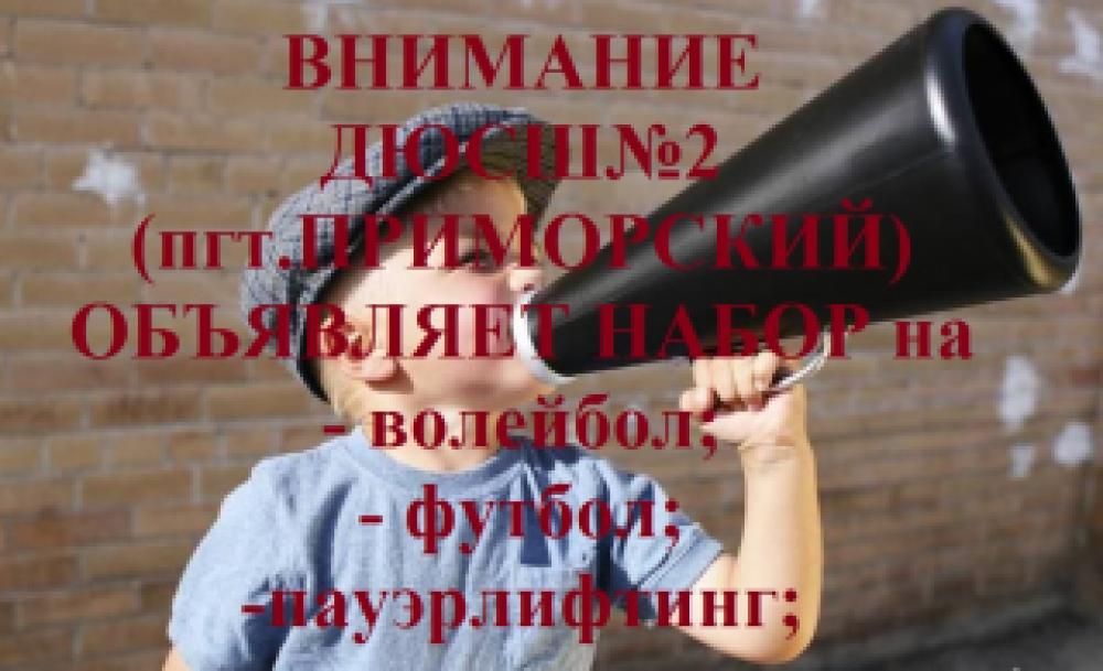 Детско-юношеская спортивная школа №2 объявляет набор!