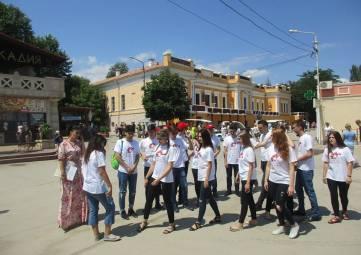 Ростовчане - участники патриотической акции в Феодосии