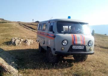 Ночные приключения в горах Крыма: в кювет съехала иномарка с пассажирами