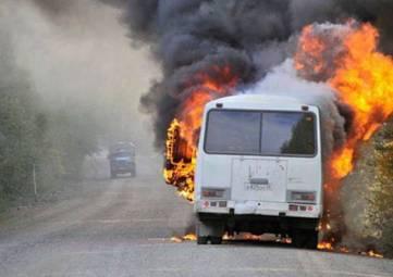 В Феодосии и Судаке горят автобусы