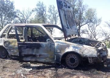 В Ленинском районе на дороге сгорел автомобиль
