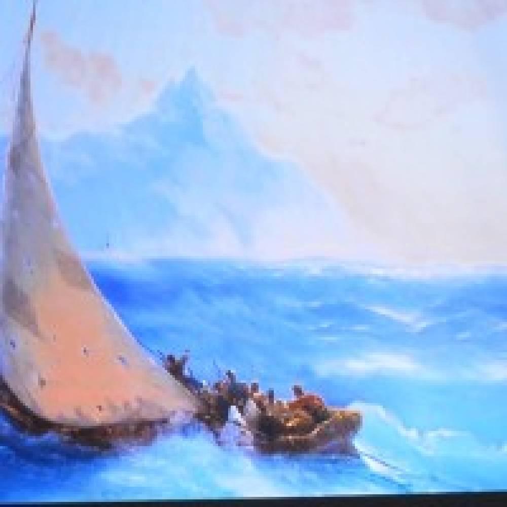 Феодосийцам показали репродукции полотен Айвазовского, хранящихся во дворце турецкого султана