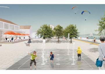 Новая набережная Коктебеля: широкий променад, фонтаны и велодорожки