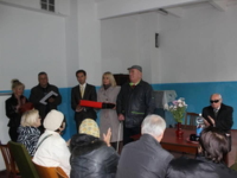 Феодосийскому обществу слепых вручили подарки