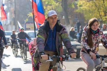 В Феодосии ко Дню народного единства состоялся велопробег по улицам города (ФОТО)