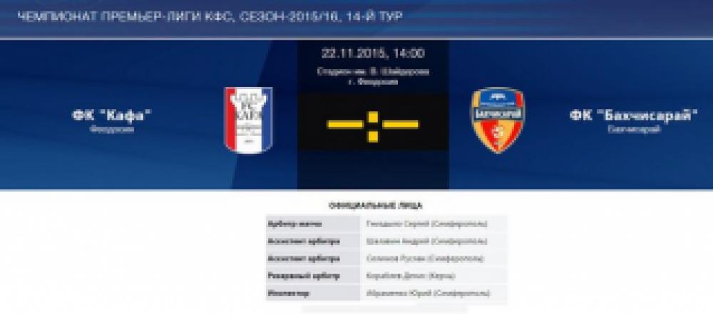 В Феодосии состоится заключительная футбольная игра чемпионата КФС