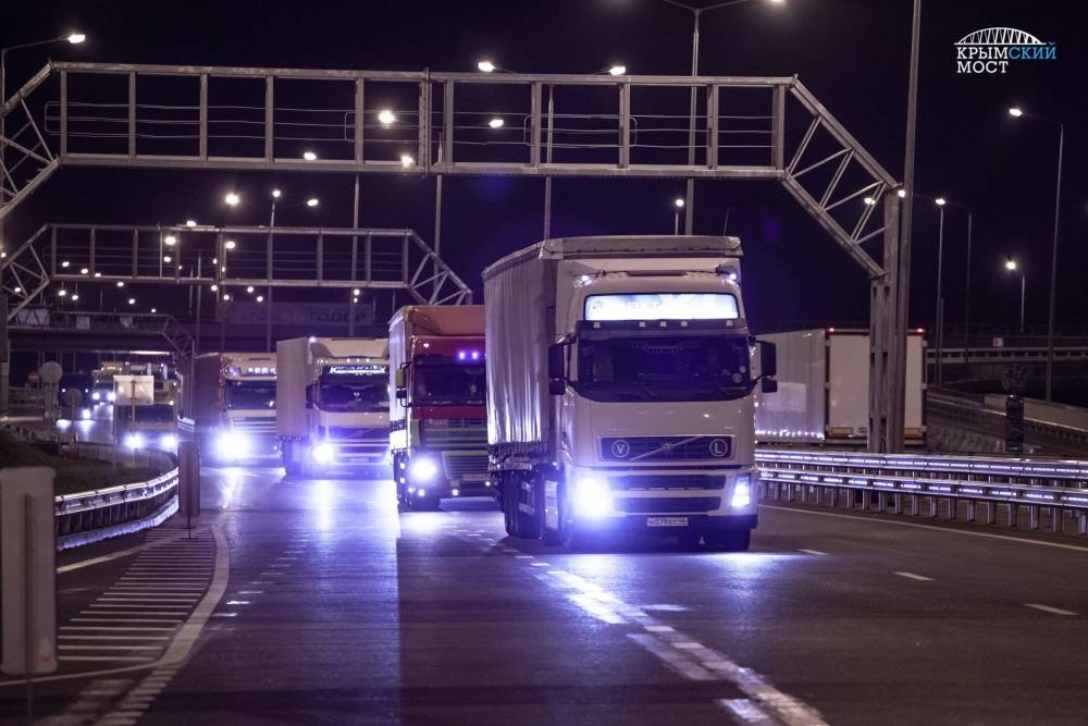 За первую неделю по Крымскому мосту проехали 10 тыс грузовиков