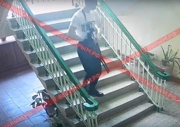 Видео с камер наблюдения в керченском колледже
