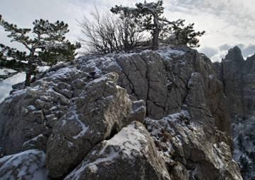 В Крым пришел первый снег