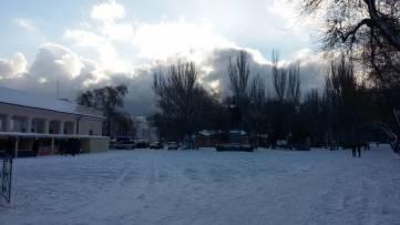 Редкое явление - Новый год со снегом.