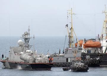 Корабли ВМСУ возвращаются в Бердянск - ФСБ