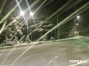 Снег и гололед на трассе Симферополь Феодосия