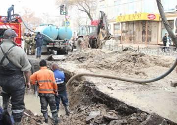 В Симферополе устранили аварию на водоводе