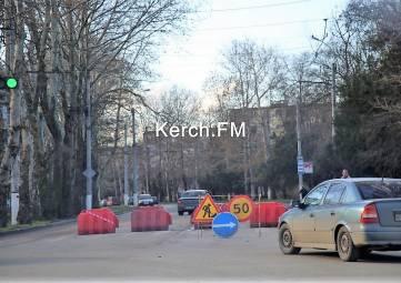 В Керчи снова перекрыли улицу Горького