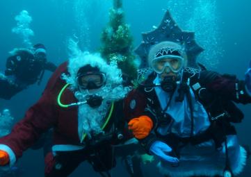 Новый год у подводной ёлки