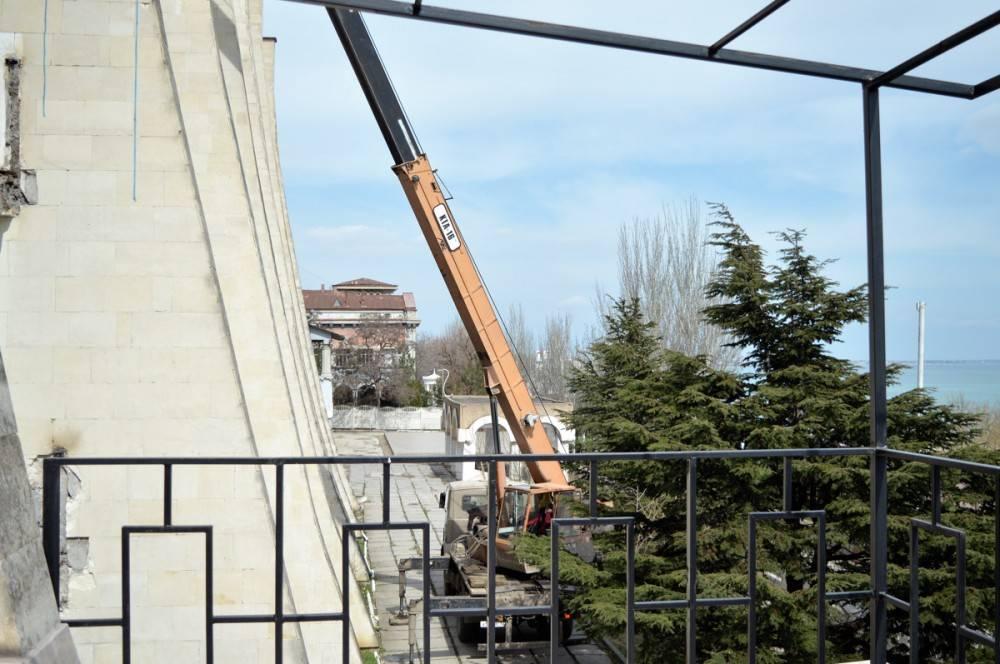 В феодосийском санатории «Восход» ведутся ремонтные работы