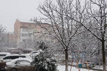 31 декабря снег в Феодосии