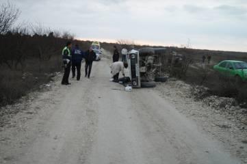 На трассе Феодосия – Орджоникидзе произошла авария