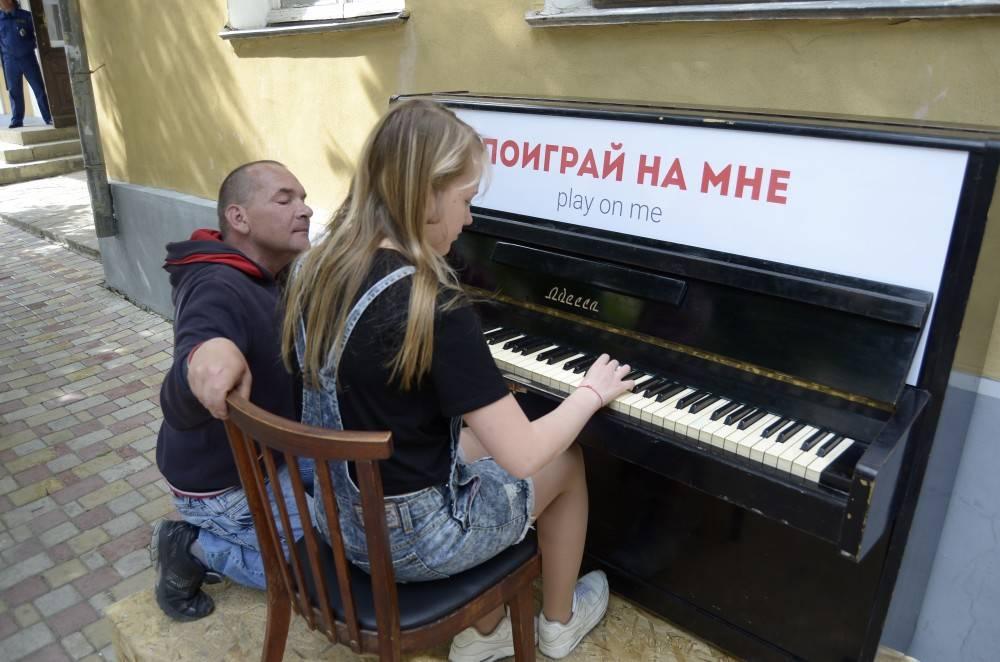 В Феодосии чуть ниже Музейной площади разместили фортепиано