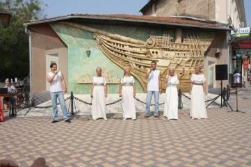 Выступление греческого ансамбля
