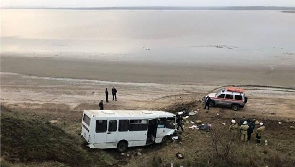 В МЧС рассказали подробности смертельной аварии с автобусом в Крыму