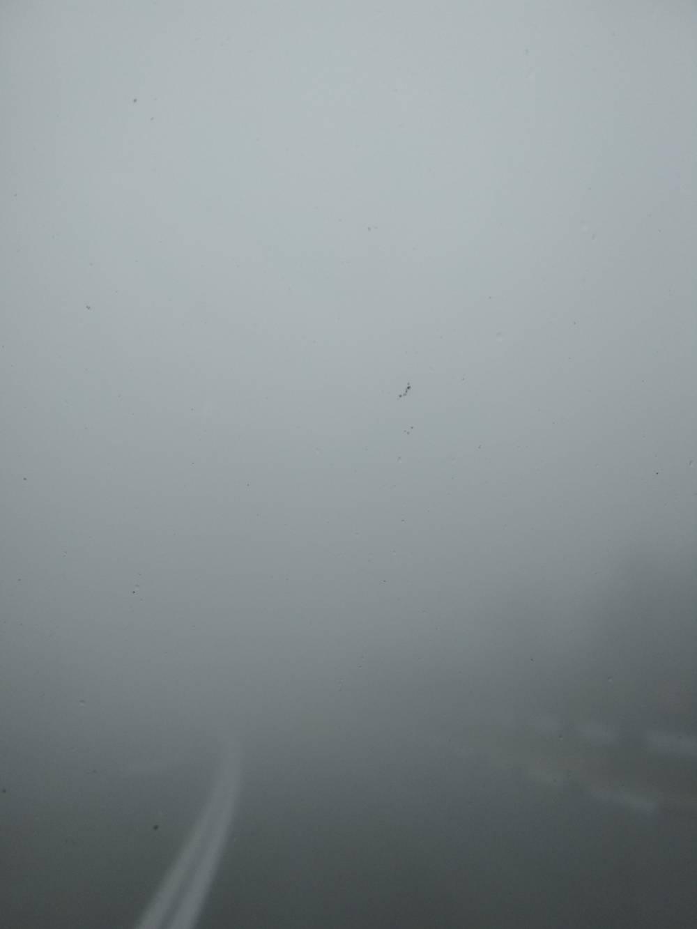 Нулевая видимость на трассе в Крыму