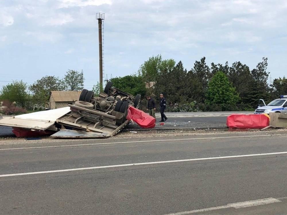 Серьёзная авария произошла на «Тавриде» на повороте в Ленино