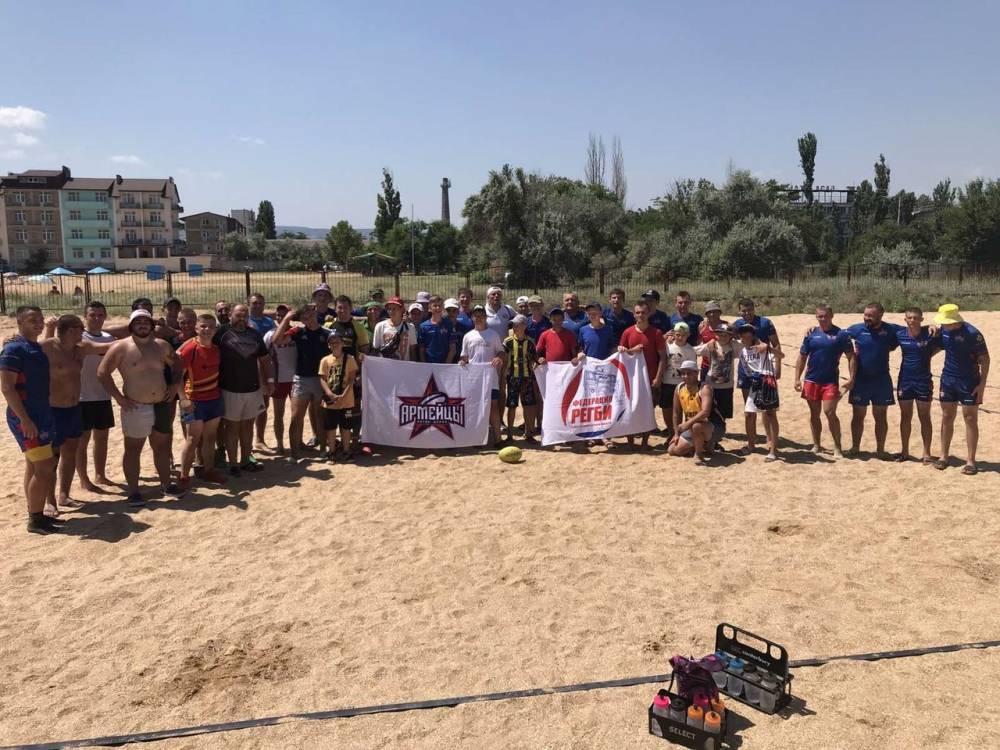 18 июля регбисты МБУ «СШ№2» провели открытую тренировку по пляжному регби с командой г. Курск.