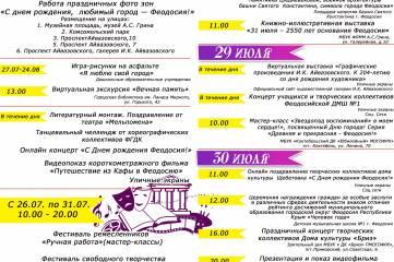 Афиша День Города Феодосия 2021.