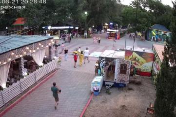 Веб-камеры Крыму, Прогулочная зона набережной