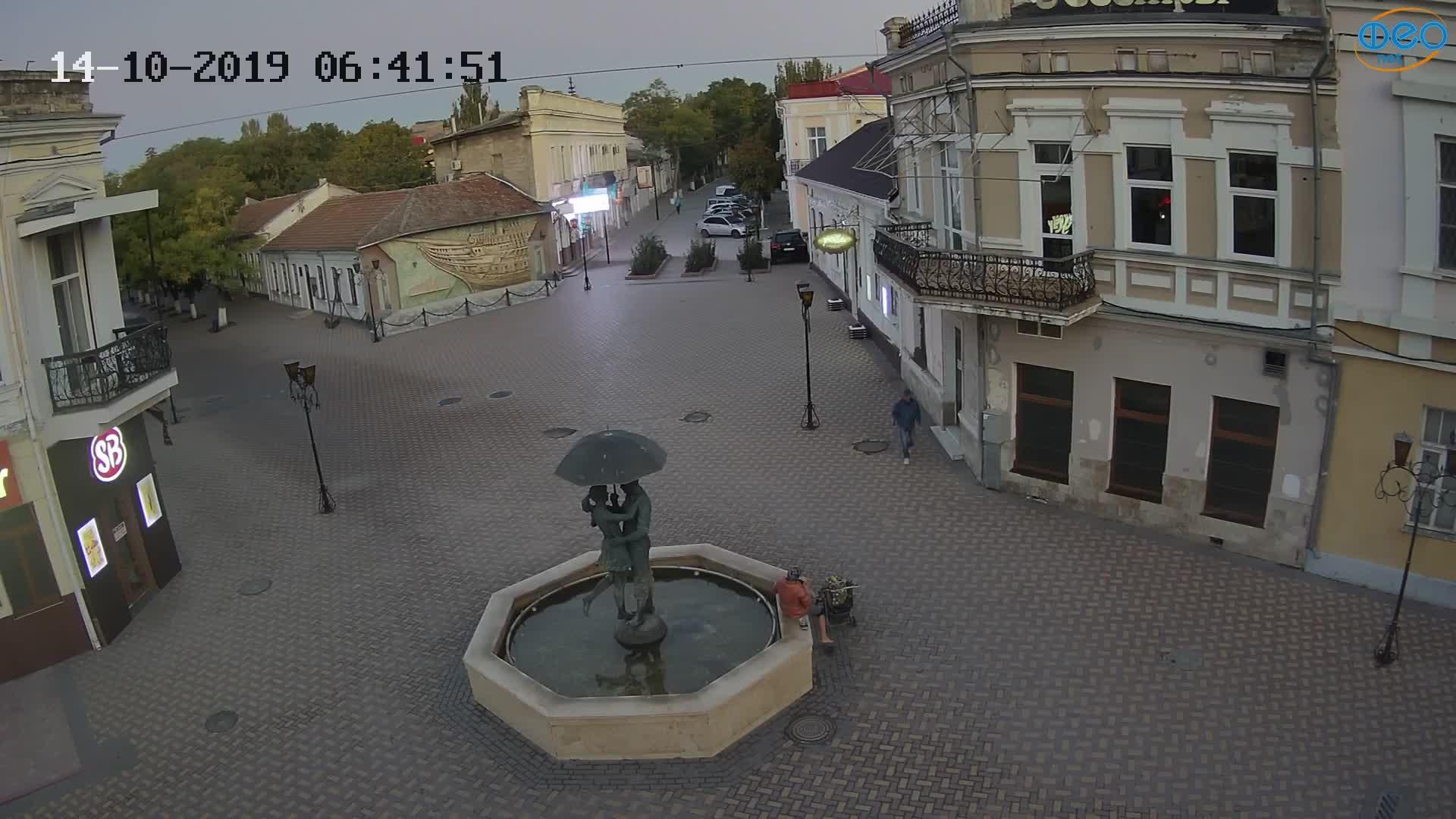 Веб-камеры Феодосии, Панно Бригантина (Камера со звуком.), 2019-10-14 06:43:11