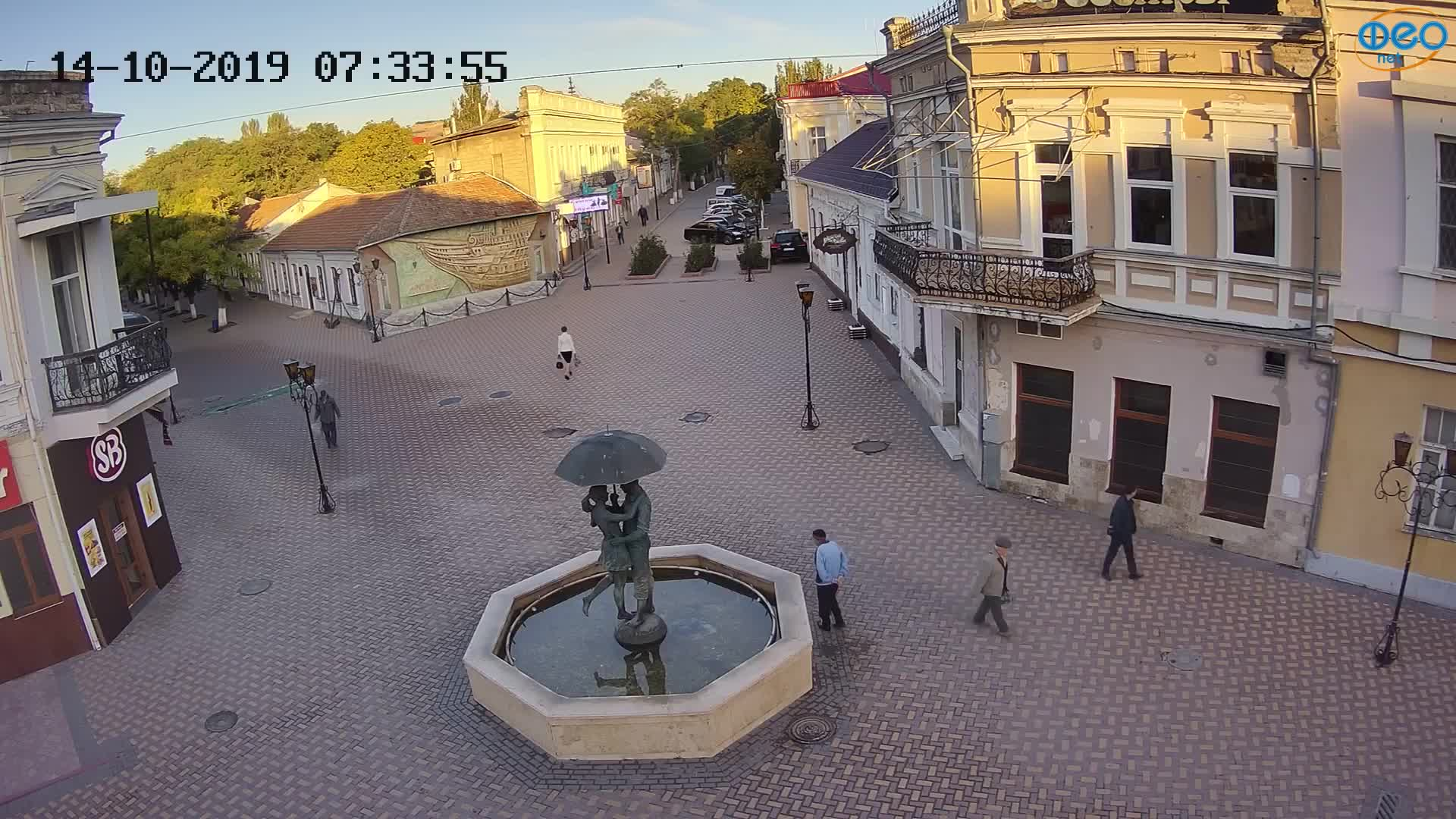 Веб-камеры Феодосии, Панно Бригантина (Камера со звуком.), 2019-10-14 07:43:10